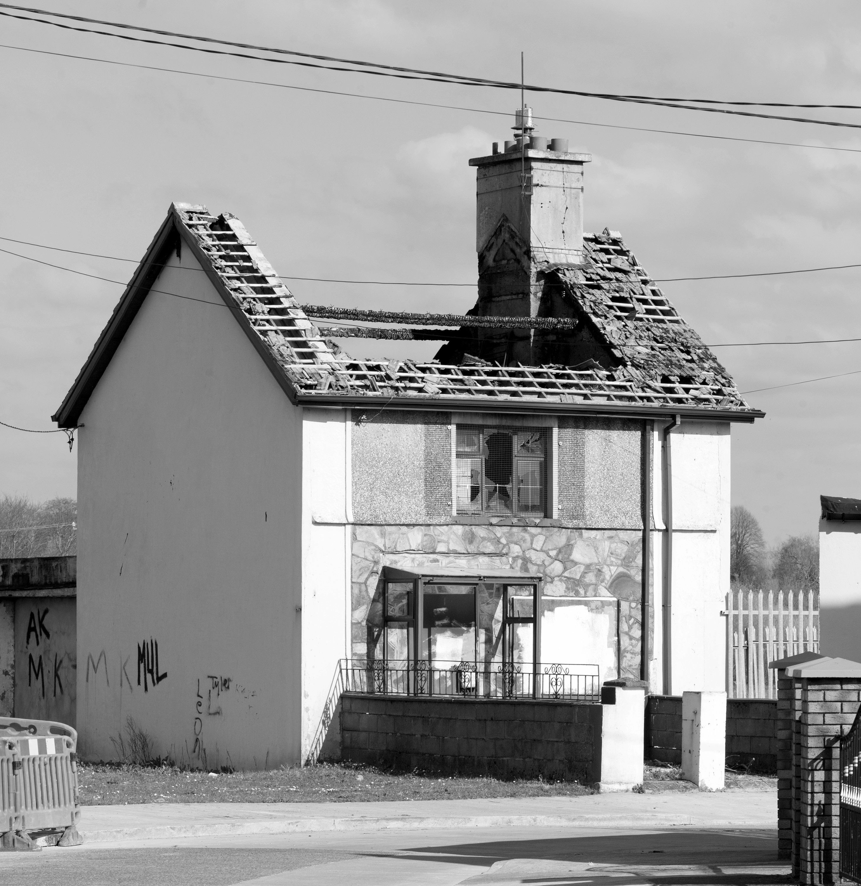 21d036363a2a9 St. Mary's Park, Limerick. One of the many derelict houses. Photograph by
